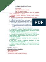 Company Anaysis Checklist
