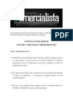 Edital Convocação de Artigos