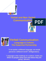 Verbal and Nonverbal Comm