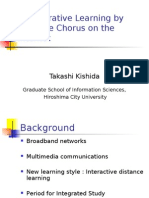 Collaborative Learning by Distance Chorus on the Internet