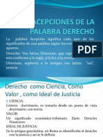 Acep. La Palabra Derecho (4ta. Clase)