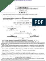 CEC ENTERTAINMENT INC 10-K (Annual Reports) 2009-02-20