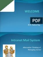 Rahul- Intranet Mailing System (Rahul Raj)
