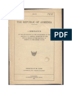 Armenian Genocide Memorandum the Republic of Armenia 1919