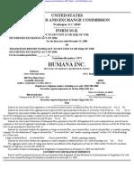 HUMANA INC 10-K (Annual Reports) 2009-02-20