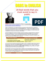 Reading & Comprehension - BAD WORDS in English