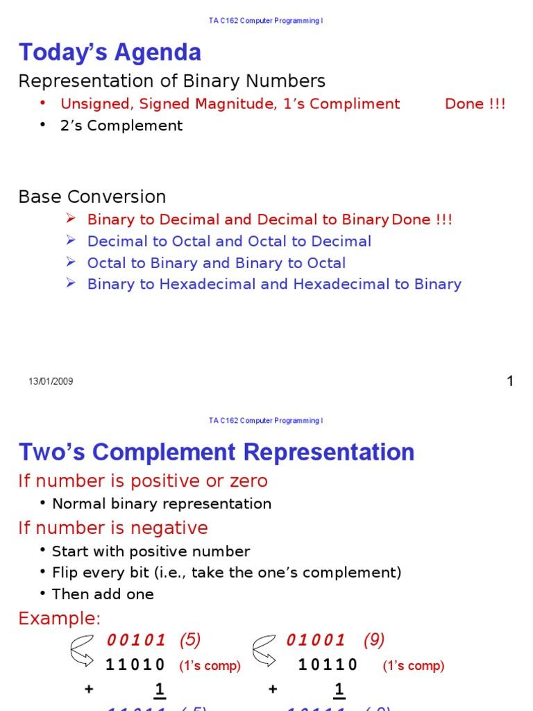 Lec4 5 Bit Mathematical Notation 1 S Complement Circuit Diagram