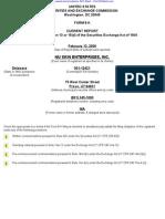 NU SKIN ENTERPRISES INC 8-K (Events or Changes Between Quarterly Reports) 2009-02-20