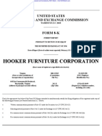 HOOKER FURNITURE CORP 8-K (Events or Changes Between Quarterly Reports) 2009-02-20