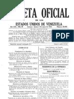 Gaceta Oficial de los Estados Unidos de Venezuela Nº 20685 - Viernes, 02 de Enero de 1942