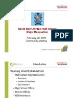 Jordan High School Major Renovation Powerpoint