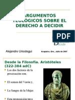 ARGUMENTOS TEOLÓGICOS SOBRE EL DERECHO A DECIDIR