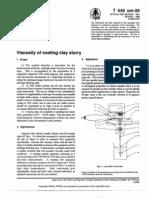 Viscosity of Coating Clay Slurry