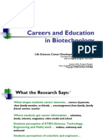 Careers and Education in Biotechnology