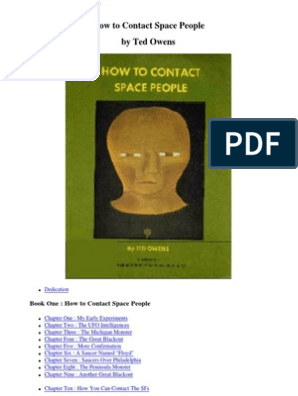 How To Contact Space People Unidentified Flying Object