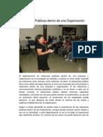 Relaciones Públicas dentro de una Organización