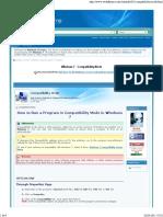 Compatibility Mode - Windows 7