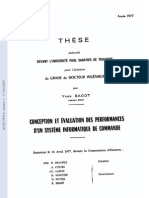 Conception Et Evaluation Des Performances d Un Systeme Informatique de Commande
