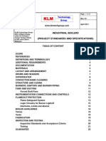 Project Standards and Specifications Industrial Boilers Rev01