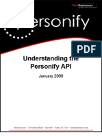 Understanding the Personify API