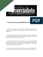 Normas Gerais para Publicação de Trabalhos