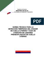 Norma Tecnica Para La Deteccion Temprana Del Cancer de Cuello