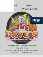 Dave's Smokehouse Grill Menu