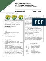 Newsletter 3-1-13