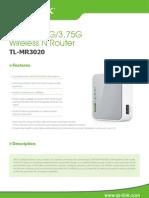 TL MR3020 Datasheet 2011 11 LN