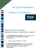 Différents types de morphèmes - Critères de classification-3