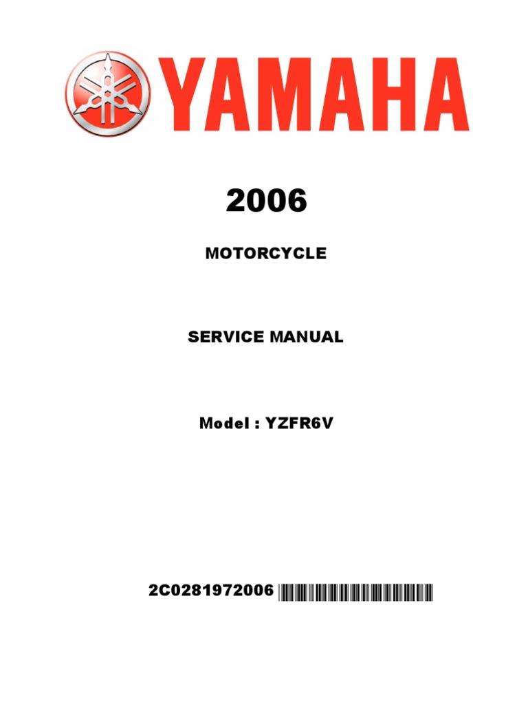 Yamaha YZF R6 2006-07 Manual de taller ENG pdf