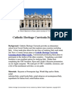 Catholic Heritage Curricula Social Studies Unit