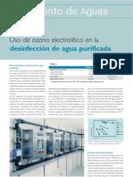 Articulo Uso de Ozono Electrolitico en La Desinfeccion de Agua Purificada Www.farmaindustrial.com
