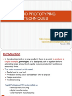 Rapid Prototyping Processes and Operations