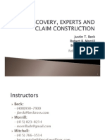 2013 02 06 GGULS PAT LIT - Discovery, Experts, and Claim Construction (Class 5)(FINAL)