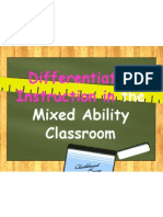 differentiated instruction in the mixed ability classroom