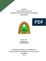 Laporan Resmi Praktek Belajar Klinik II Di RSUD a.M Parikesit Tenggarong