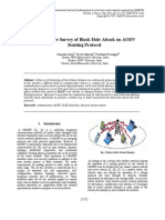 A Literature Survey of Black Hole Attack on AODV Routing Protocol