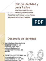 Desarrollo de Identidad y Autonomía 7 años