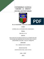 DISCUSIÓN DE INFORME DEL INVENTARIO DE EMISIONES LIMA-AREQUIPA