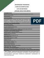 Odonto Lista Materiais 2010