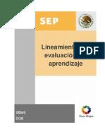 Lineamientos Eval Aprendizaje SEP