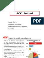Investor Presentation August 12 ACC