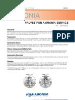 Ammonia Valves