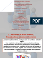 UNIDAD II Clasificación de las Relaciones Públicas