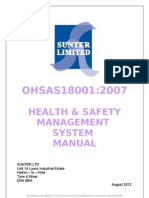 Ohsas180012007 Hsms Manual