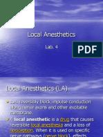 Local Anesthetics
