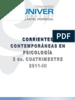 Corrientes Contemporaneas en Psicologica Univer 2011
