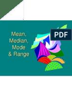 statistics - mean median mode