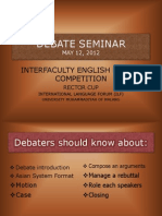 Debate Seminar